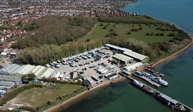 WicorMarine Yacht Haven from the air - credit S M Waddington