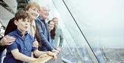 All generations enjoying the view from the Emirates Spinnaker Tower