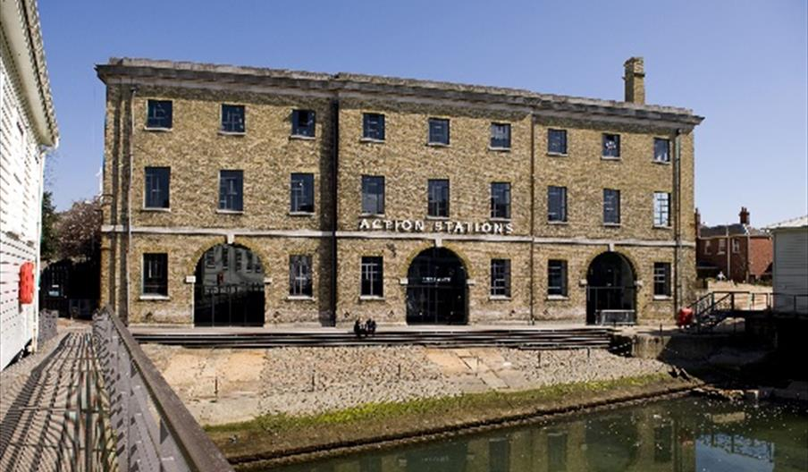 Image of Action Stations and Mast Pond - Portsmouth Historic Dockyard