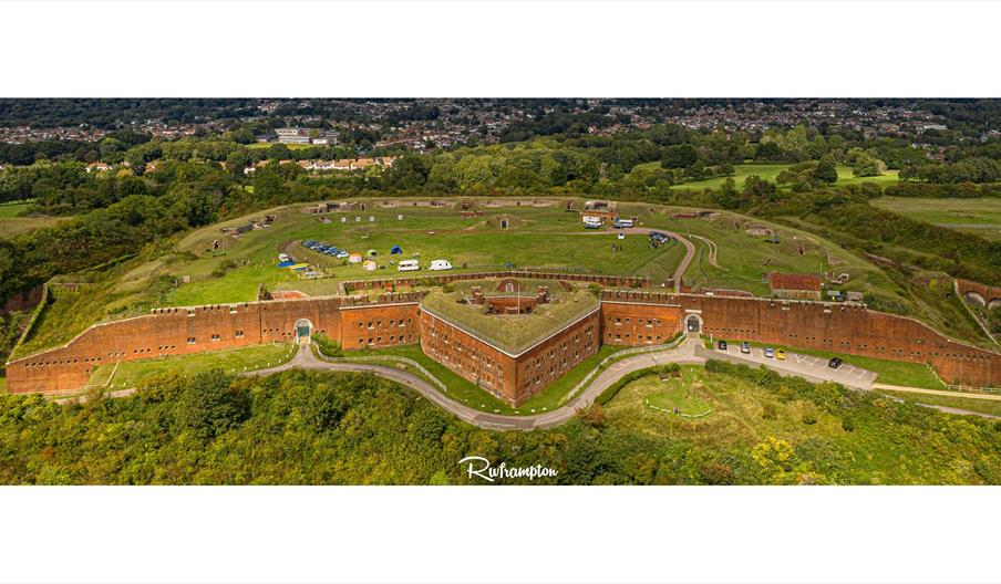 Aerial view of Fort Purbrook