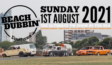 Beach Dubbin' image of cars on Southsea Common