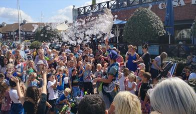 Bubble Show taking place at Port Solent