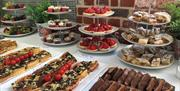 Sweet and savoury treats available to delegates at Aspex