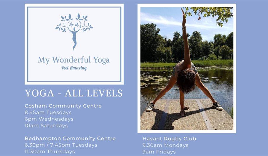 Flyer for My Wonderful Yoga