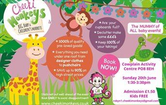 Flyer for Cheeki Monkeys' Big Baby and Children's Market Waterlooville