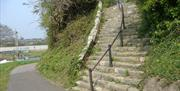 Steps to the scheduled ancient monument at Hilsea