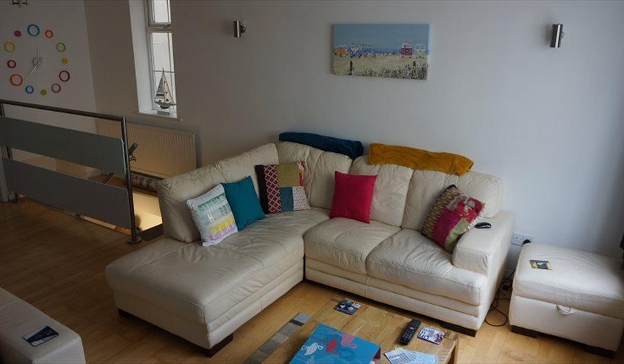 Beachside Townhouse living room