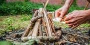 Building a fire