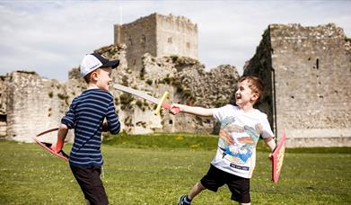 Kids at Portchester Castle ©English Heritage