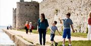 Portchester Castle Family ©English Heritage