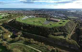Aerial photograph of Fort Widley