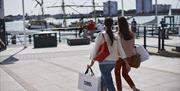 Outlet shopping at the water's edge at Gunwharf Quays