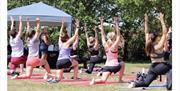 Yoga class at Sweat Fitness Festival