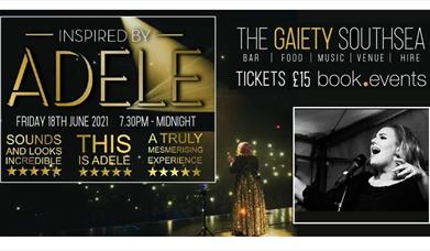 Flyer for Adele Tribute Night