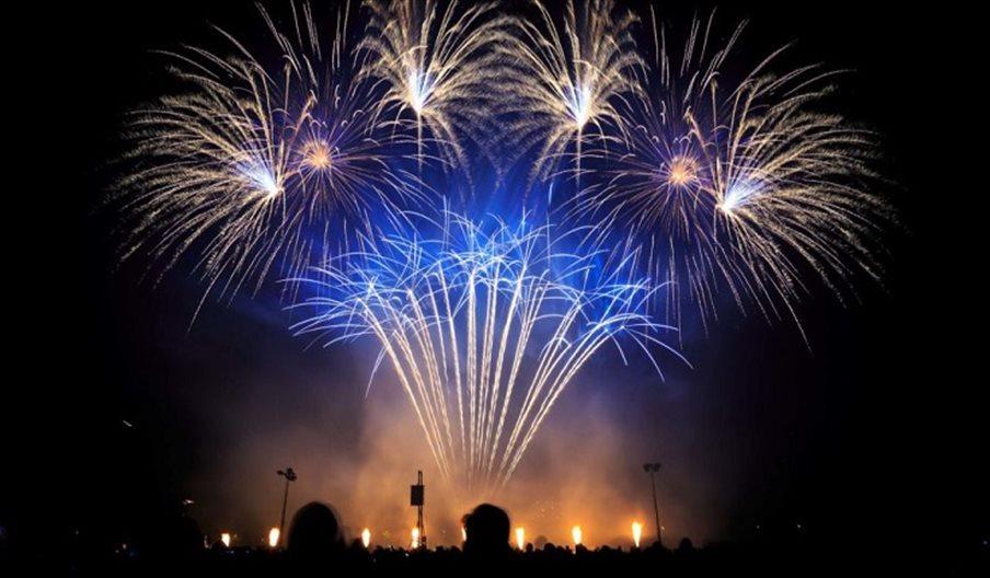 Fireworks display at Cosham