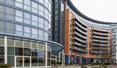 Gunwharf Quays apartments and eateries