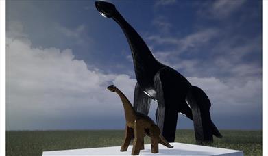Bronze dinosaur mock up of Luna Park 2021