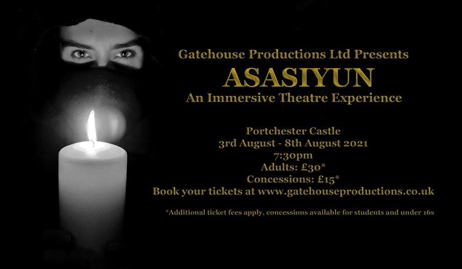 Flyer for Asasiyun - An Immersive Theatre Experience