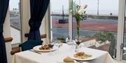 Sea-view at the Royal Beach Hotel restaurant