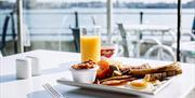 Hearty breakfasts with a view at the Emirates Spinnaker Tower's Waterfront Cafe