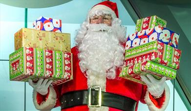 Santa Claus at the Spinnaker Tower