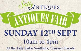 Sally Antiques Fair poster for September