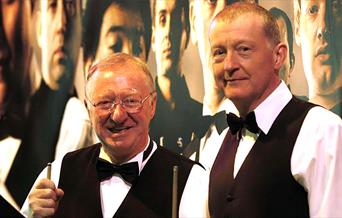 Press photo for An Evening with Snooker Greats Steve Davis & Dennis Taylor