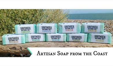 Image of soap and products from Southsea Bathing Hut