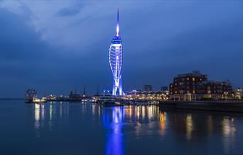Spinnaker Tower by night