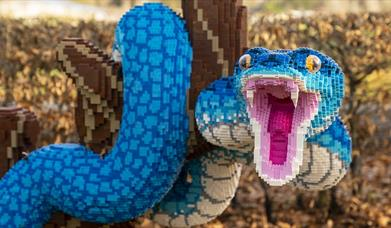 Brick snake part of the Supersized! exhibition at Marwell Zoo