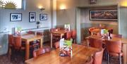 Inside seating at The Jolly Sailor
