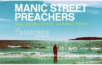 Press shot for the Manic Street Preachers' Ultra Vivid Lament tour