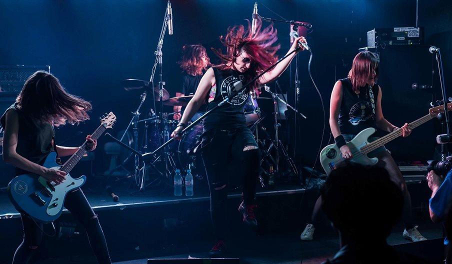 The Ramonas on stage