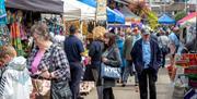 Crowds enjoying the Waterside Market