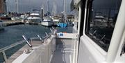 Wide walkway along the boat