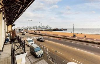 Stunning views over to South Parade Pier from the balcony