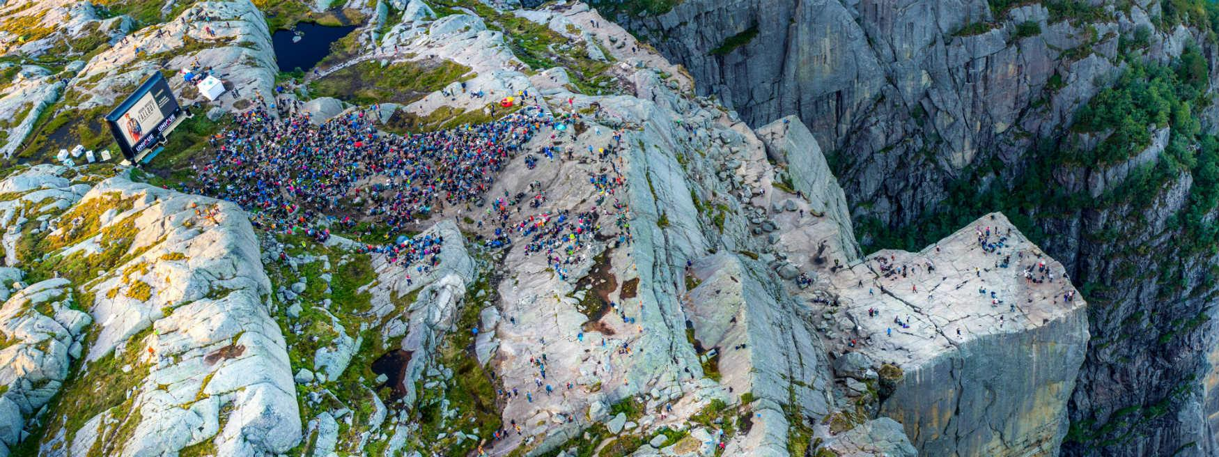 Film screening of Mission Impossible Fallout at Preikestolen