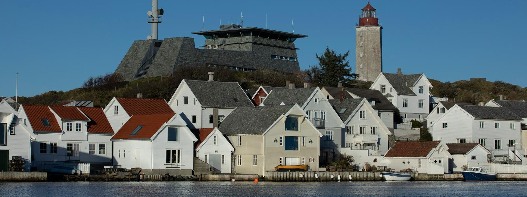 The view from Grøningen guest harbour at Kvitsøy