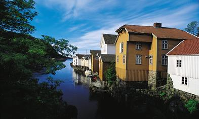 Buildings on the river side