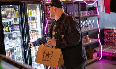 Brewmaster Mike is shopping