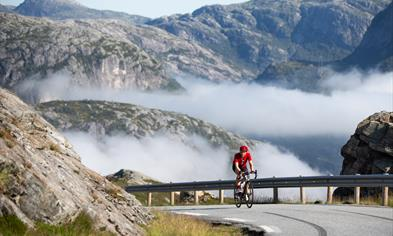 Cycling in stunning landscapes.