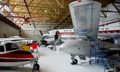The museum is located in an authentic German hangar.