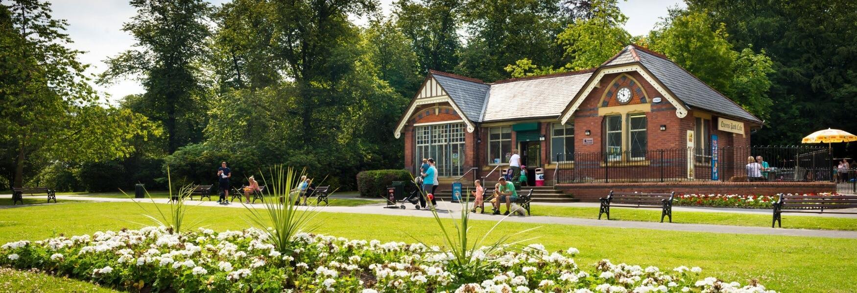 Visitors enjoying Heywood Park.