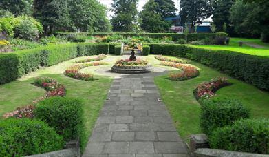 Flower beds at Denehurst Park.