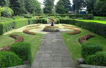 Flower beds at Denehurst Park.