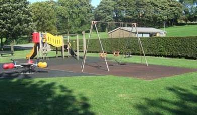 Play area at Milnrow Memorial Park.