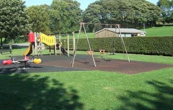 Play area at Milnrow Memorial Park.