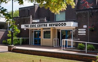 Exterior of Heywood Civic Centre.