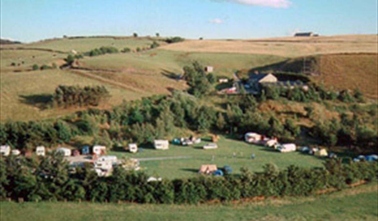 View of Hollingworth Lake Caravan Park.