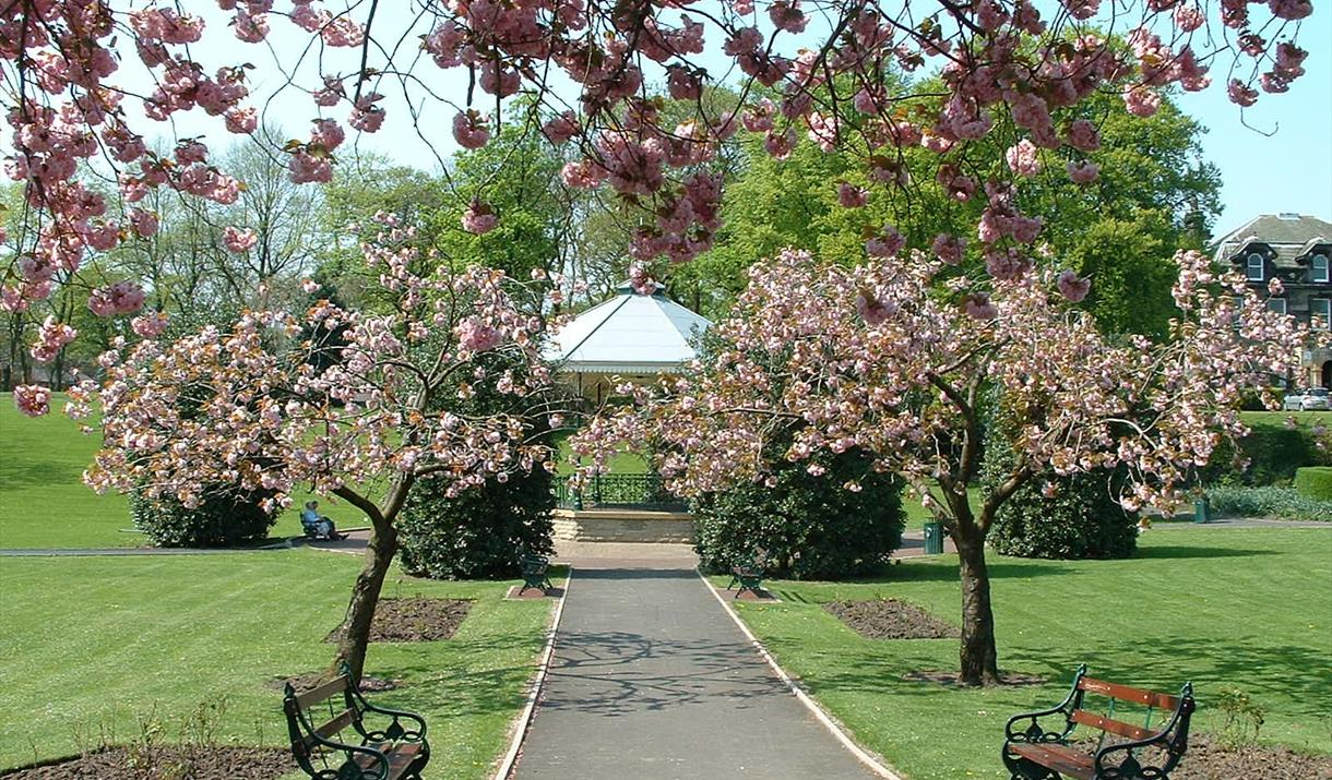 The bandstand at Hare Hill Park.
